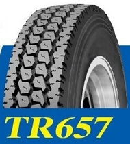 Triangle TR657 Closed Shoulder Drive Tire. Commercial Truck tire. Low Pro Truck Tire