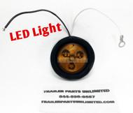 """2"""" flush mount amber market light"""