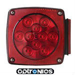 "Optronics STL-8RB - Universal stud-mount stop/turn/tail lights for under 80"" applications.  6-function: stop, turn, tail, rear reflex, side marker, and side reflex.  All-weather molded plastic housing and durable lens protect against corrosion.  Features screw-on, replaceable lens.  Mounts on 2"" centers, grounds through mounting studs."