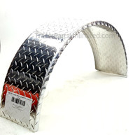 aluminum single axle tread plate trailer fender