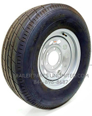 ST225/75R15 10-Ply Rainier Radial Trailer Tire on Silver Mod Wheel 6x5.5""