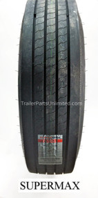low pro 295/75R22.5 14-ply Supermax Trailer Tire