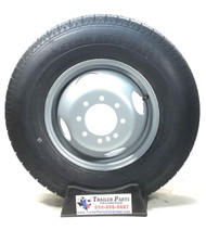 "16"" ST235/80R16 10-Ply Radial Elevate Trailer Tire Mounted on 16"" Silver Dual Wheel 8 on 6.5"" Hub Piloted"