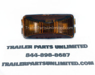 2-1/2″ x 1-1/4″ Rectangular Amber LED Light Sealed Lamp with 2 Diodes.