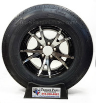 custom aluminum wheel on a 225/75R15 10-ply radial trailer tire