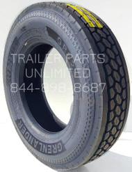 11R22.5 14-Ply Grenlander Lug Drive Medium Truck Radial Tire.