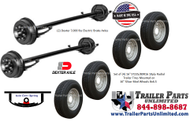 Dexter 14K Axle Tire Wheel Bundle  at Trailer Parts Unlimited in Huntsville Texas 77320. Call 844-898-8687 for a shipping quote or stop on by and pick one up.