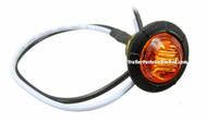 "Mini amber 3/4"" Round side led marker trailer bullet clearance license  light"