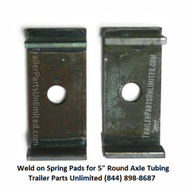 "Upload image 2 Spring Pads For 5"" Round Axle Tubing (10k 12k Axle)"