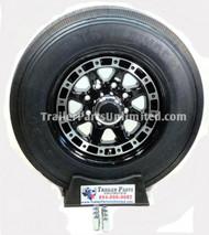 "215/75R17.5 16-Ply Trailfinder HT on Aluminum Single w/ Black Inlay 8x6.5"""