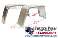 "This single axle Jeep Style fender is 16 Gauge Cold Rolled Steel, with a 9/16"" Radius on the front and back. Accepts up to 15"" tire. This single axle Jeep Style fender is 16 Gauge Cold Rolled Steel with a 9/16"" Radius on the front and a 90 degree on the back. Accepts up to 15"" tire."