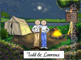 Camping Couple-Male & Male