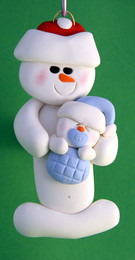 Snowman With Infant Boy