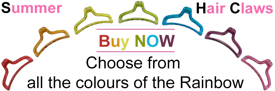Strong Hair Claws in all the colours of the Rainbow