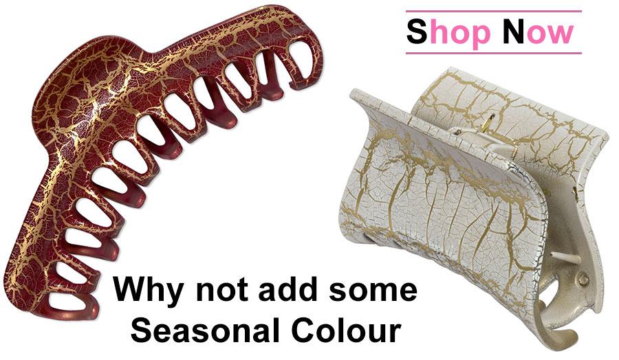 Hair Claws for Seasonal Colour