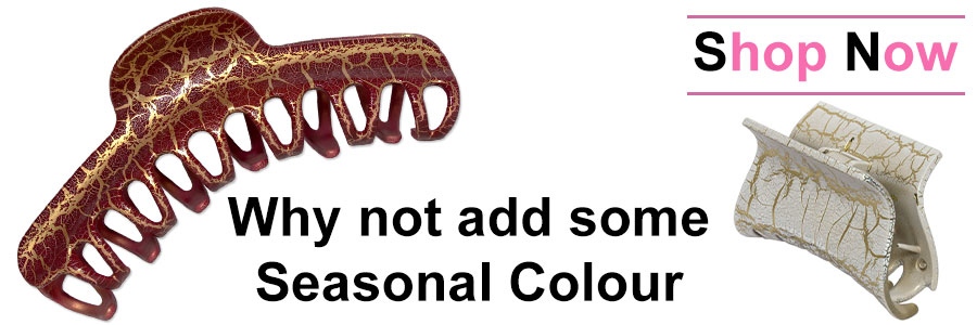 Hair claws to add some seasonal colour