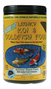 Microbe-Lift Legacy Koi and Goldfish Food - Summer Staple 10 oz