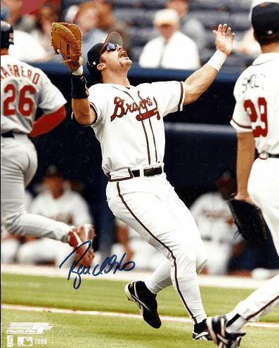 Ryan Klesko Celebrates Braves Victory