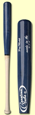 Carolina Clubs Youth Wood Bat: Pro Model - $20 off Personalized Black Bats & Half/Black Bats