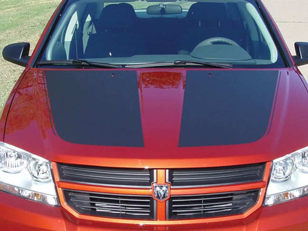 2008-2014 Dodge Avenger Avenged Hood Vinyl Racing Stripes Graphic Kit