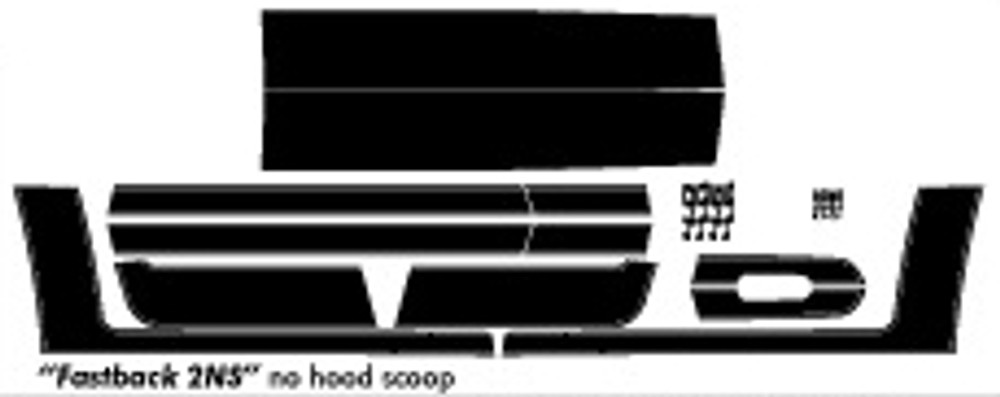05-09 Ford Mustang Fastback 2 Graphic & Decal Kit No Hood Scoop Diagram
