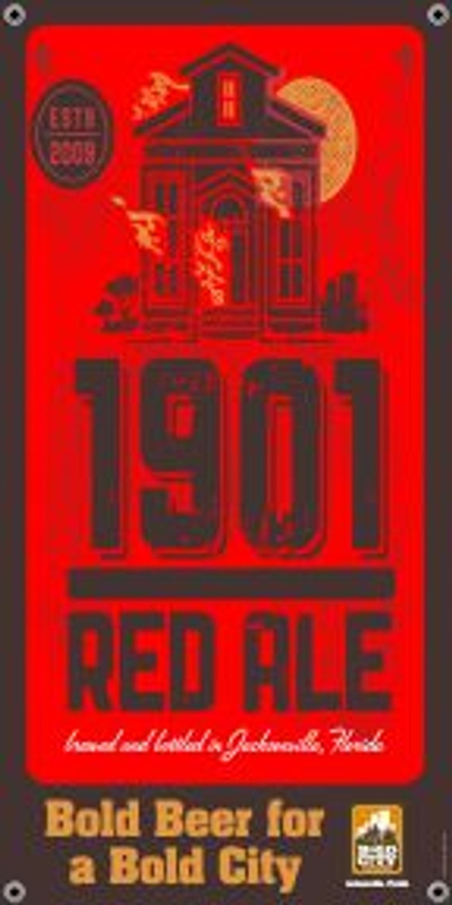 """Bold City Brewery 18.5"""" X 36"""" 1901 Red Ale Banner"""