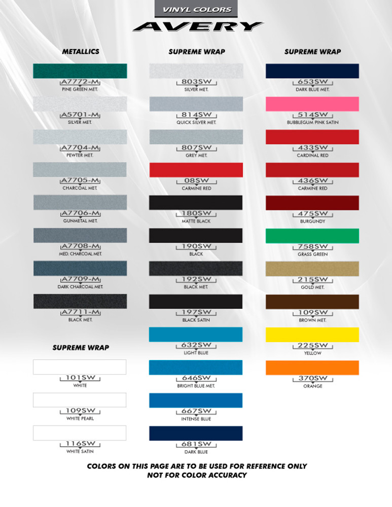 Avery Color Chart Page 3
