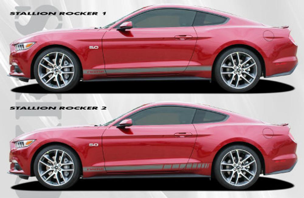2015 Ford Mustang Stallion Rocker 1 & Rocker 2 Graphic Kit