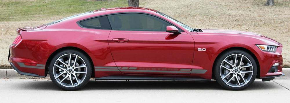 2015-2017 Ford Mustang Haste Rocker Stripe Vinyl Graphic Kit