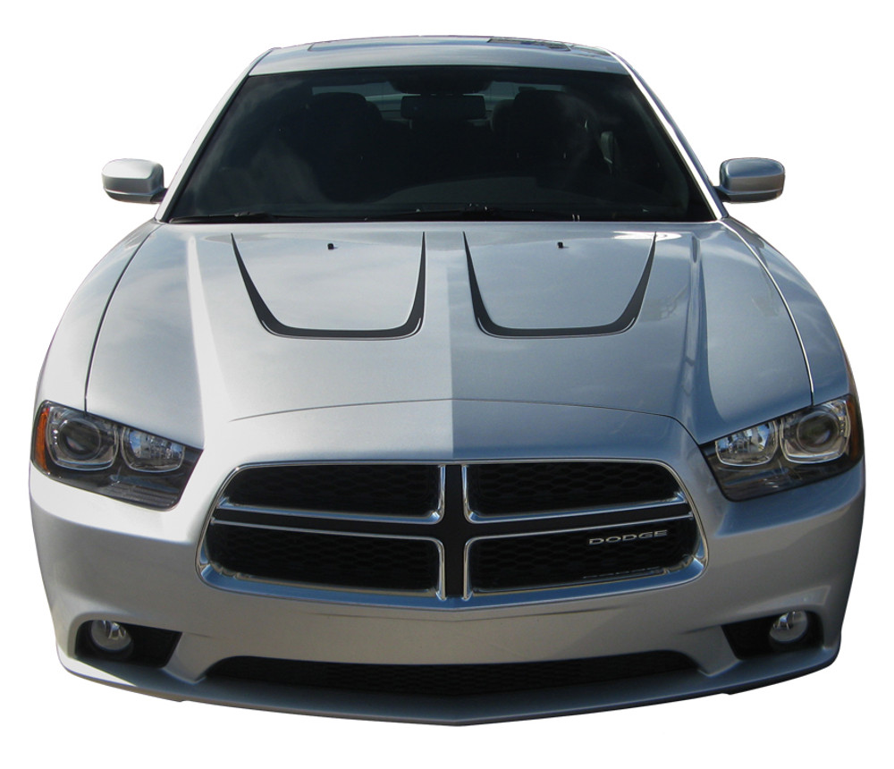 2011-2014 Dodge Charger Hood Scallops Kit