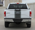 2009 2010 2011 2012 2013 2014 2015 2016 2017 Ford F-150 Center Vinyl Racing Stripes Graphic Kit Rear View