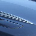 2015- 2017 Ford Mustang Hood Side Spears Vinyl Stripes Close Up 2
