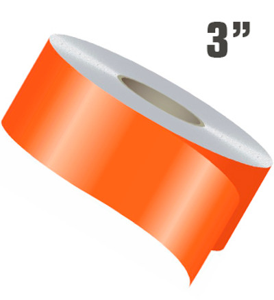 "3"" Wide Single Line Single Color Vinyl Stripe Roll"