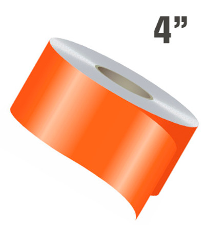 "4"" Wide Single Line Single Color Vinyl Stripe Roll"