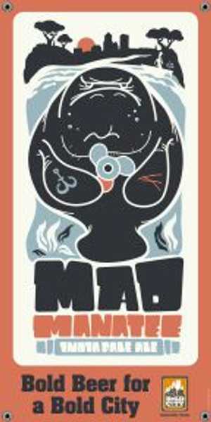"Bold City Brewery 18.5"" X 36"" Mad Manatee Banner"