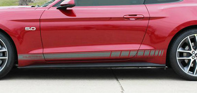 2015 Ford Mustang Stallion Rocker 2 Graphic Kit Close Up