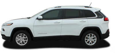 2014 2015 2016 2017 Jeep Cherokee Warrior Side Vinyl Stripes Graphic Kit  Side View
