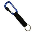Locking Carabiner Paracord Keychain | Blue