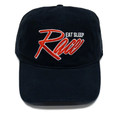 Script Sport Strapback Hat | Black/Red