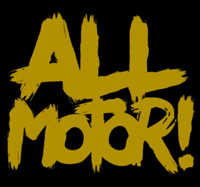 All Motor Vinyl Decal   Gold
