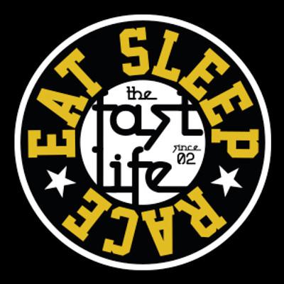 Fast Life Cap Sticker   Black/Gold