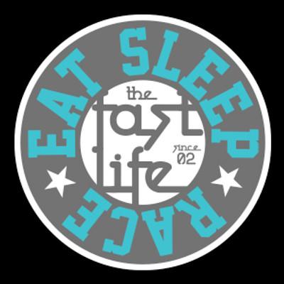 Fast Life Cap Sticker   Grey/Teal