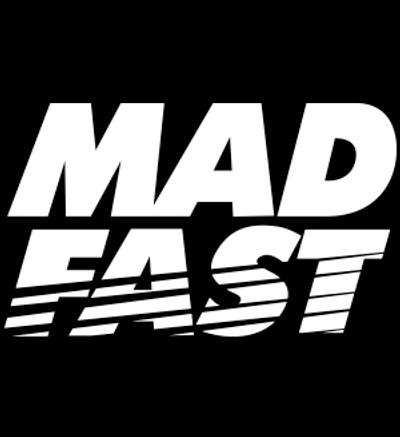 Mad Fast Vinyl Decal   White