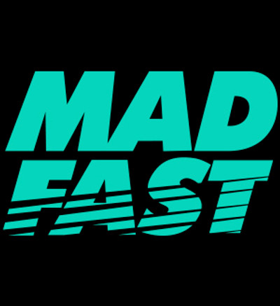 Mad Fast Vinyl Decal   Teal