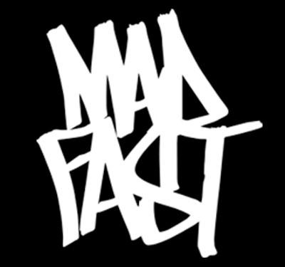 Mad Fast Graffiti Vinyl Decal   White