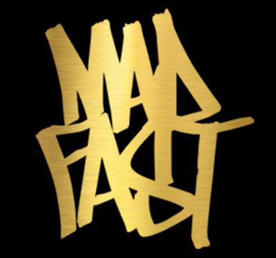 Mad Fast Graffiti Vinyl Decal   Gold Foil