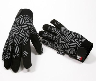 Mechanics Gloves Pattern   Black/Grey