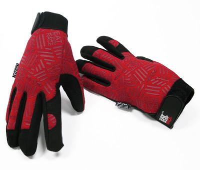 Mechanics Gloves Pattern | Red/Black