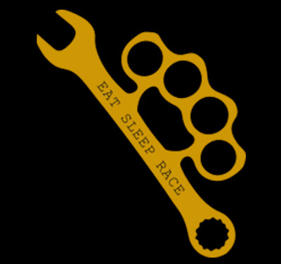 Wrench Vinyl Decal   Gold