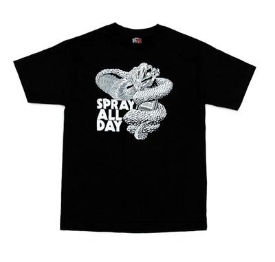 Cobra Spray All Day T-Shirt   Black